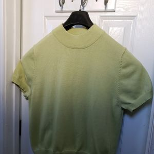 Allison daley mint green turtle neck top